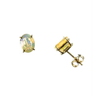 Orecchini in Opale e Oro 18k