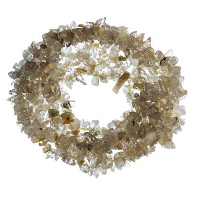 Bracciale chips a fascia in Quarzo Rutilato, elastico