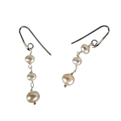 Orecchini di Perle bianche e Argento 925