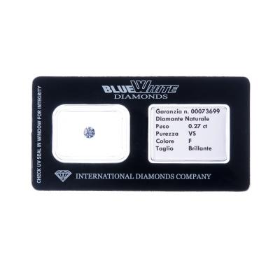 Diamante garantito con Gift Box - F/VS - da 0,20 a 0,27 carati
