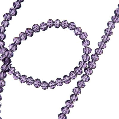 Filo di Cristalli a Rondelle Color Viola