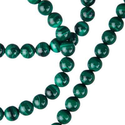 Malachite - Filo di sfere lisce da 6mm