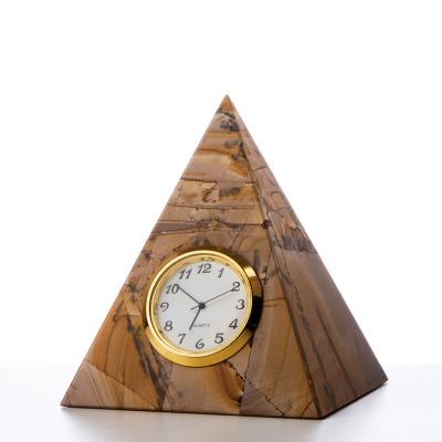 Piramide orologio in Pietra Paesina