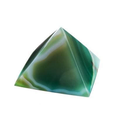 Piramide in Agata Verde Striata