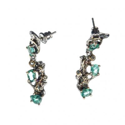 Orecchini di Smeraldi e Argento 925