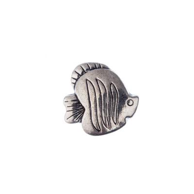 Distanziatore a Forma di Pesce (cm. 1,8) color Argento - 1 pz.