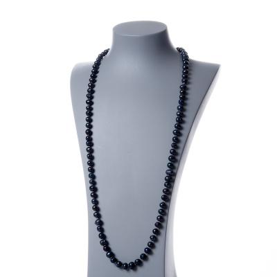 Collana di Perle Nere d'Acqua dolce tonde