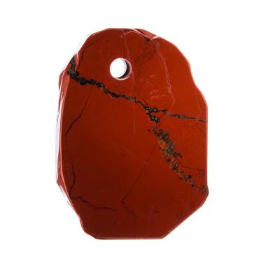 Ciondolo Irregolare in Diaspro Rosso levigato