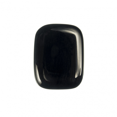 Ossidiana Nera piatta, liscia e burattata - saponetta