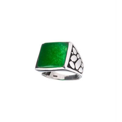 Anello con Agata Verde e Argento 925