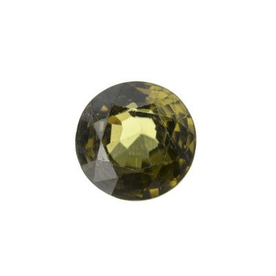 Gemma di Zircone Verde - Taglio a Brillante - Tondo 1.05x1.05x0.5