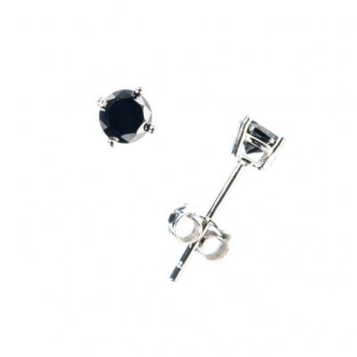 Orecchini con Onice Nera e Argento 925 - 0.4 cm
