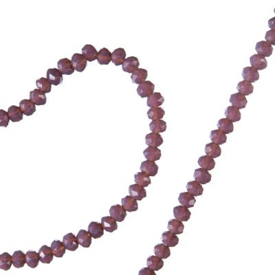 Filo di Cristalli a Rondelle Color Violetto