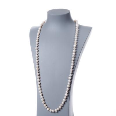 Collana di Perle Bianche d'Acqua dolce tonde