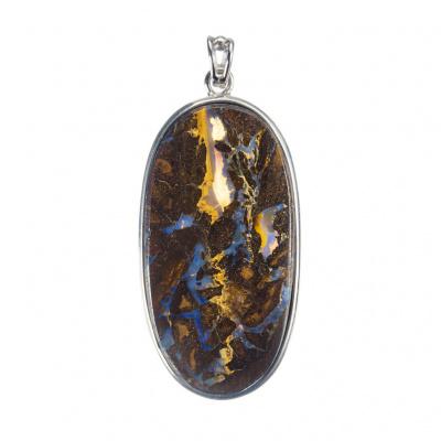 Ciondolo di Opale Boulder e Argento 925