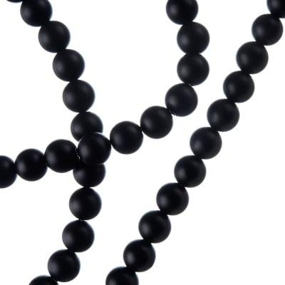 Agata Nera Opaca - Sfera liscia da 6mm