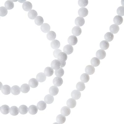Giada Bianca - Filo di sfere lisce da 4mm