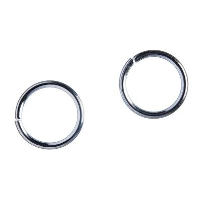 Anellino aperto in lega metallica anallergica da 14 mm color Platino - 20 gr. (circa 36 pz.)
