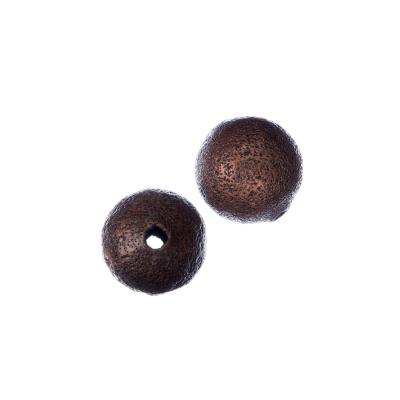 Distanziatore pallina diamantata da 12mm color Bronzo - 4 pz.