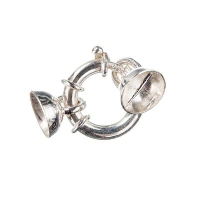 Chiusura in Argento 925 ad anello con coppetta - 2.8 x 1.6 - 1pz.