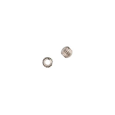 Distanziatore sfera rigata in Argento 925 - diametro 0.4 cm - 10 pz.