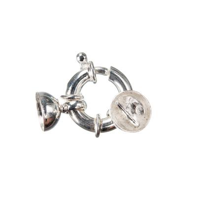 Chiusura in Argento 925 ad anello con coppetta - 2.5 x 1.4 - 1pz.