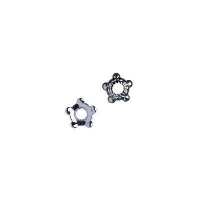 Coppetta a stella color argento 0.6x0.3 cm - 50 pz.