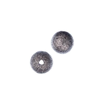 Distanziatore pallina diamantata da 8mm color Platino - 10 pz.