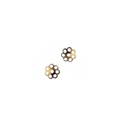 Coppetta 5mm a fiore color Oro - Confezione da 4 gr. (circa 105pz.)