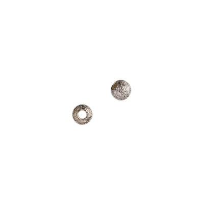 Distanziatore sfera satinata in Argento 925 - diametro 0.4 cm - 6 pz.