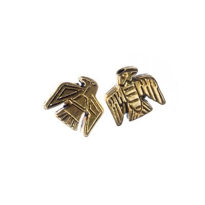 Distanziatore Aquila forma Incas color Oro 1.2x1.27 cm - 5 pz.