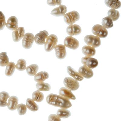 Filo di Perle a goccia grado A da 6-7 mm color Bianco