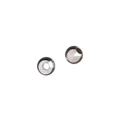 Distanziatore sfera liscia in Argento 925 - diametro 0.6 cm - 6 pz.