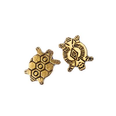 Distanziatore in stile tibetano a tartaruga color Oro 1x1.1 cm - 5 pz.