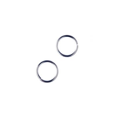 Anellini aperti in Ottone da 7mm color Argento - 10 gr. - circa 60 pz.