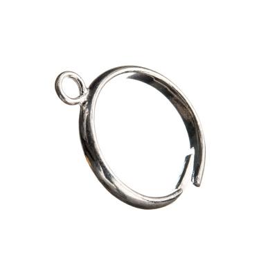 Base per anello in Argento 925 - diametro base 0.4 - 1 pz.