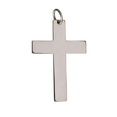 Ciondolo Croce grande in Argento 925