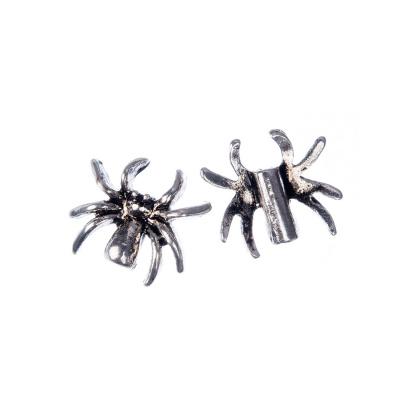 Distanziatore Tibetano a forma di ragno color Argento 1.4x1.7 cm - 4 pz.