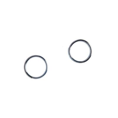 Anellino Portachiavi da 8mm in lega metallica anallergica color argento - 20 gr. (circa 140 pz.)
