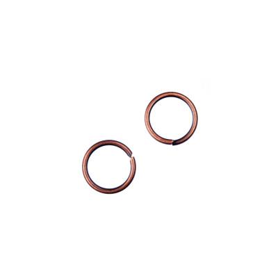 Anellini aperti in Ottone da 7 mm color Rame - 10 gr. - circa 60 pz.