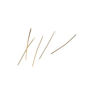 Chiodini senza occhiello da 30mm color Oro - 10 gr. - circa 80 pz.