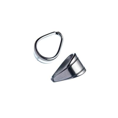 Gancio per pendenti in acciaio inossidabile color Argento 0.6x0.3 cm - 10 pz.