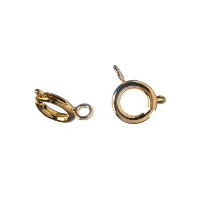 Chiusura ad anello in Ottone da 9 mm, color oro - 4 pz.