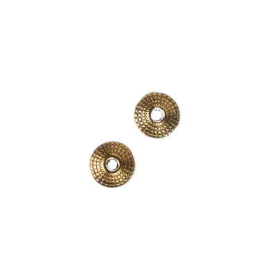Distanziatore Biconico decorato color Oro - 15 pz.