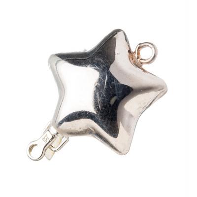 Chiusura a stella in Argento 925 a incastro - 2.6 x 2 cm - 1pz.