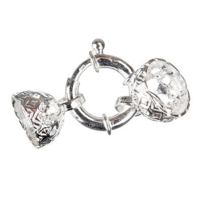 Chiusura in Argento 925 ad anello con coppetta - 3.8 x 1.6 - 1pz.