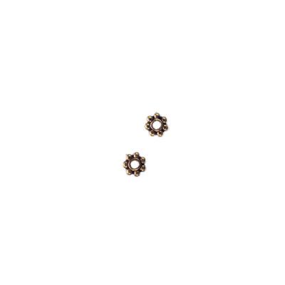 Distanziatore Tibetano a Rondella color Oro Anticato diametro 0.4 cm - 7.5 gr. (circa 50 pz.)