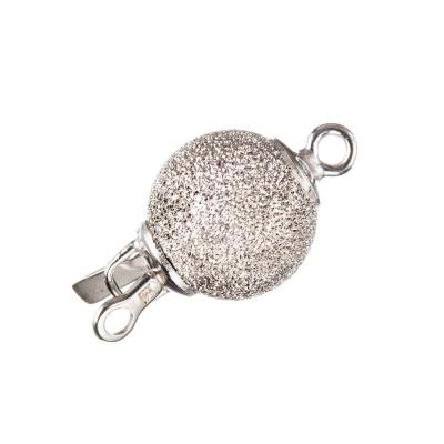 Chiusura tonda in Argento 925 a incastro - diametro 1.1 cm - 1 pz.-Argento 925 Rodiato