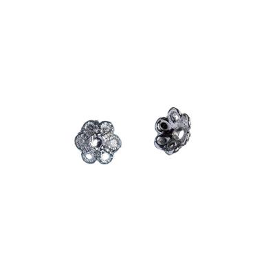 Coppetta a fiore color platino 0.7x0.3 cm - 10 pz.