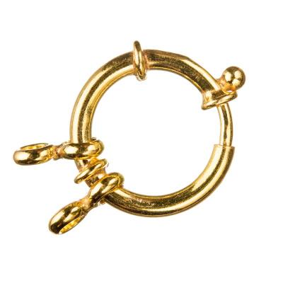 Chiusura anello in Argento 925 con molla - diametro 2 cm - 1 pz.